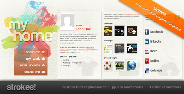 Strokes! Personal Website professional website template