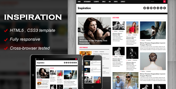 Inspiration fully responsive html5 template by kopasoft themeforest inspiration fully responsive html5 template creative site templates maxwellsz