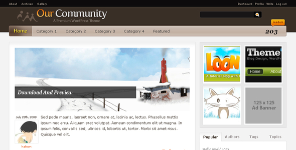 Theme forest: Our Community – WordPress Theme
