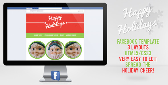 holiday templates for pages