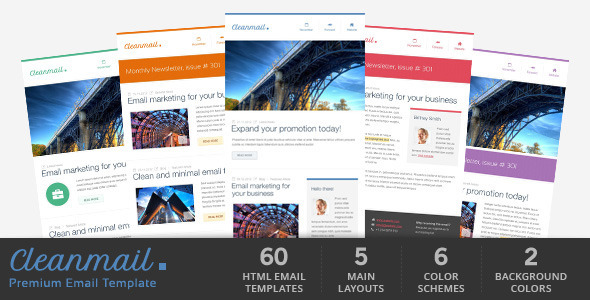 Clean Mail - Minimal Email Template by Gifky | ThemeForest