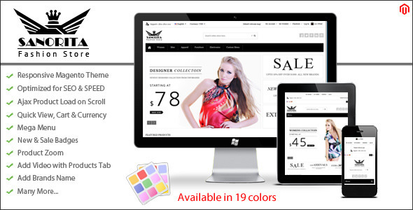 Sanorita - Responsive Magento Theme by koolthememaster | ThemeForest