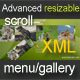 Advanced resizable scroll menu/gallery XML