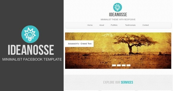Ideanosse minimalist facebook template by metrothemes themeforest ideanosse minimalist facebook template business corporate accmission Choice Image
