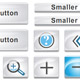 White Button and Icon Set