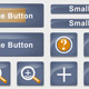 Blue Button and Icon Set