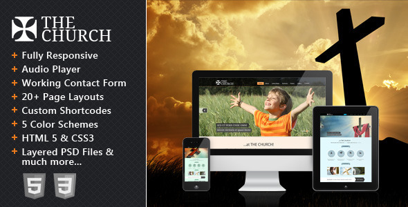 The Church - Responsive Site Template by CrunchPress   ThemeForest