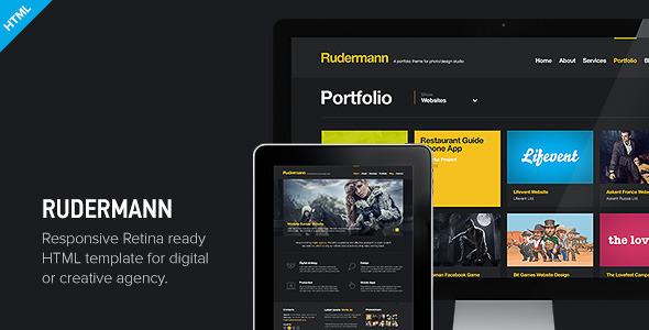 Rudermann Responsive Retina Ready Html Template Creative Site Templates