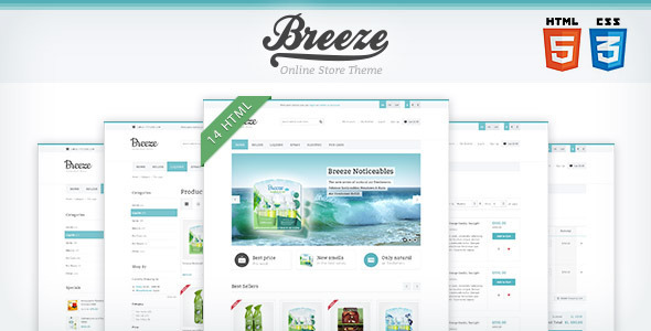 Breeze — HTML5 & CSS3 store template by WpWay_ | ThemeForest