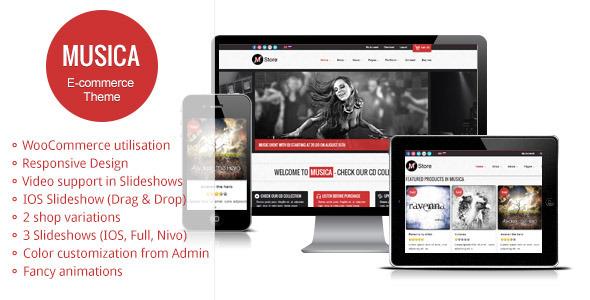 Musica - Responsive WordPress WooCommerce Theme by gljivec ...