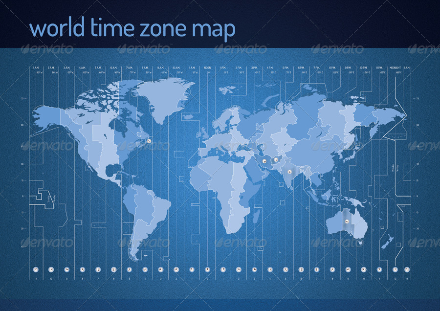 Time Zone Vector Map By Re_start Graphicriver