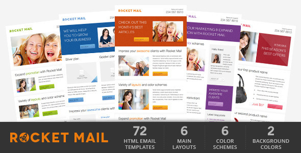 Rocket Mail Clean Modern Email Template By Gifky ThemeForest - Email brochure template