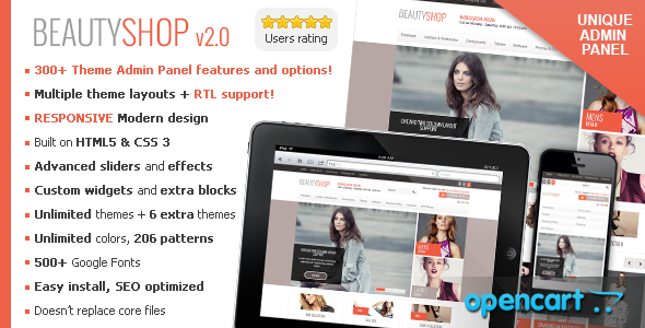 beautyshop responsive opencart theme by dedalx themeforest