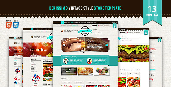 benissimo html5 css3 store template food retail
