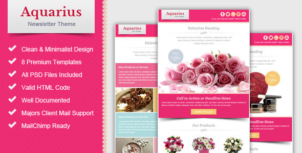 Valentine Email Marketing & Newsletter Template By Pophonic
