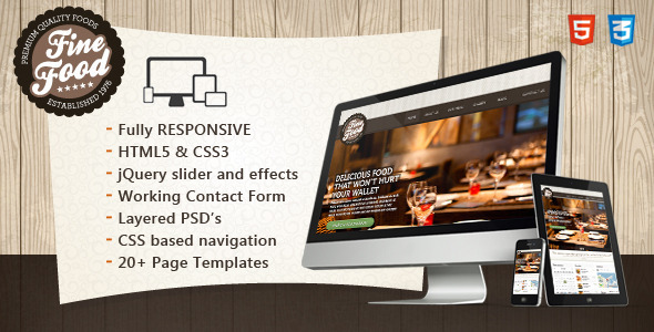 Free Html5 Restaurant Website Templates free cafe or restaurant ...