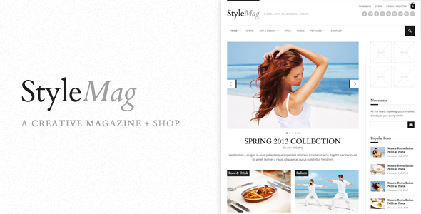 StyleMag - Responsive Magazine/Shop WP Theme by quitenicestuff ...