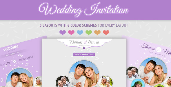 Wedding Invitation Soft and Clean Email Template by FigoThemes