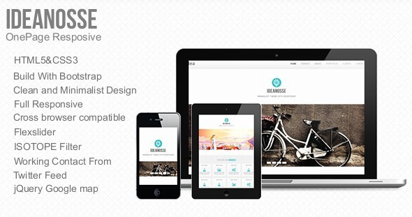 Ideanosse responsive one page template by metrothemes themeforest ideanosse responsive one page template business corporate maxwellsz