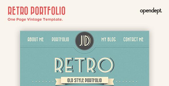 retro template