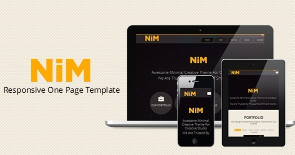 nim responsive one page creative template by metrothemes