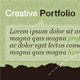 Creative Portfolio