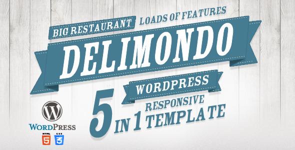 Delimondo Responsive Wordpress Theme | 5 Styles by createit-pl ...
