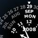 Wagon Wheel Calendar Clock