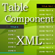 Table Component XML