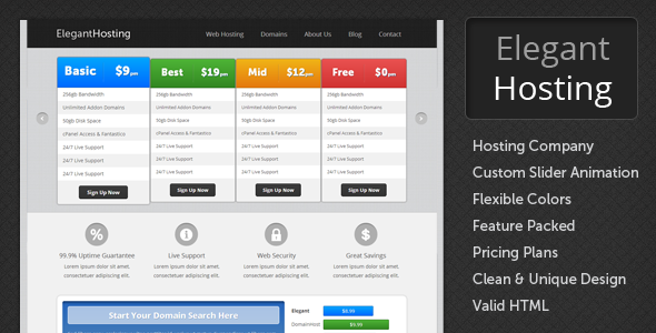 Elegant Hosting - HTML Hosting Template by RoyalTemplates ...