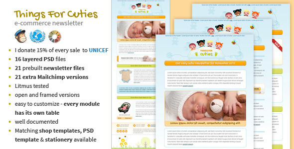 Things for Cuties - Baby Kids Newsletter Template by MouseOnLeaf ...
