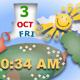 Sunshine Clock and Calendar