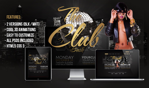 The Club 3D HTML Template by createit-pl | ThemeForest