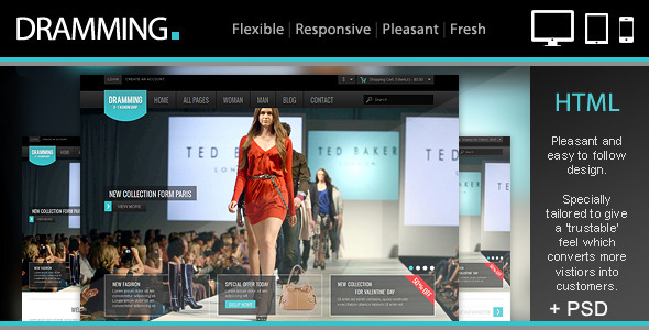 Dramming Pleasant Ecommerce Site Template By Templatation - Ecommerce site templates
