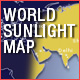 Worls Sunlight Map
