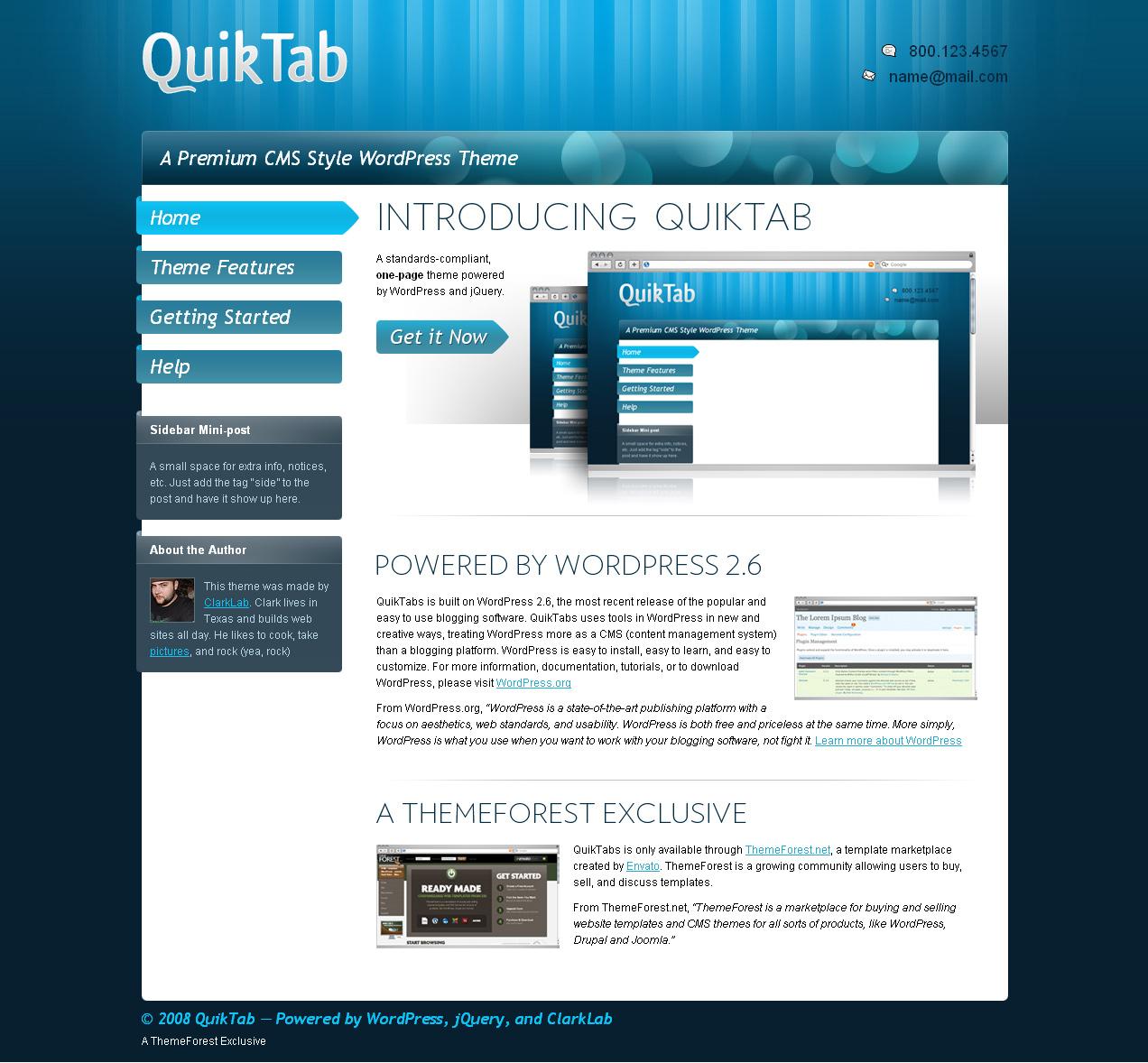 Quiktab Theme