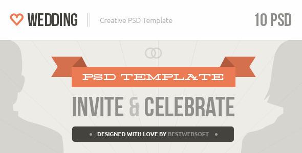 Wedding - Creative PSD Template by bestwebsoft | ThemeForest