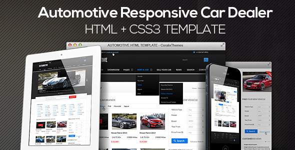 Automotive Cars Dealer Responsive HTML5/CSS3 by CoralixThemes ...