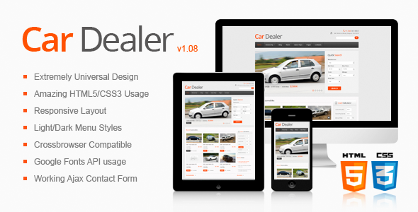 Car Dealer Responsive HTML5/CSS3 Template by ThemeMakers | ThemeForest