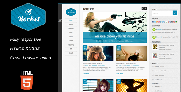 Rocket magazine html5 template by kopasoft themeforest rocket magazine html5 template corporate site templates maxwellsz