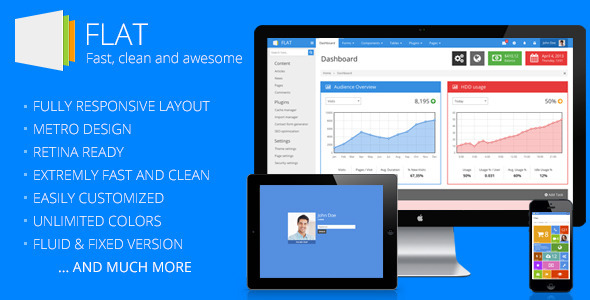 FLAT - Responsive Admin Template by eakroko | ThemeForest