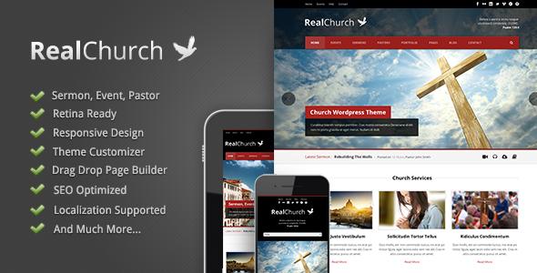 Real Church Responsive Retina Ready Theme Churches Nonprofit