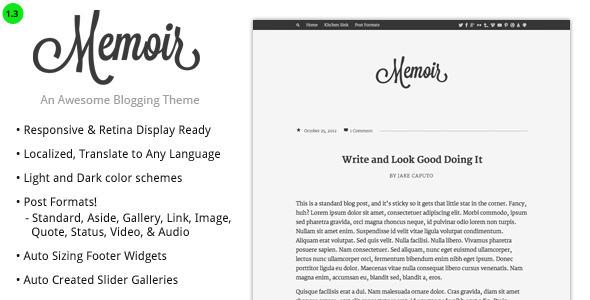 memoir tumblog style wordpress theme by designcrumbs themeforest