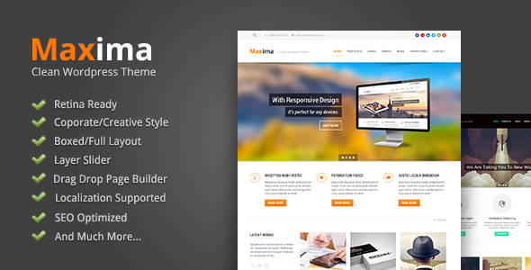 Maxima Retina Ready WordPress Theme Corporate WordPress