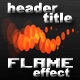 Cool Header/Title Flame Effect
