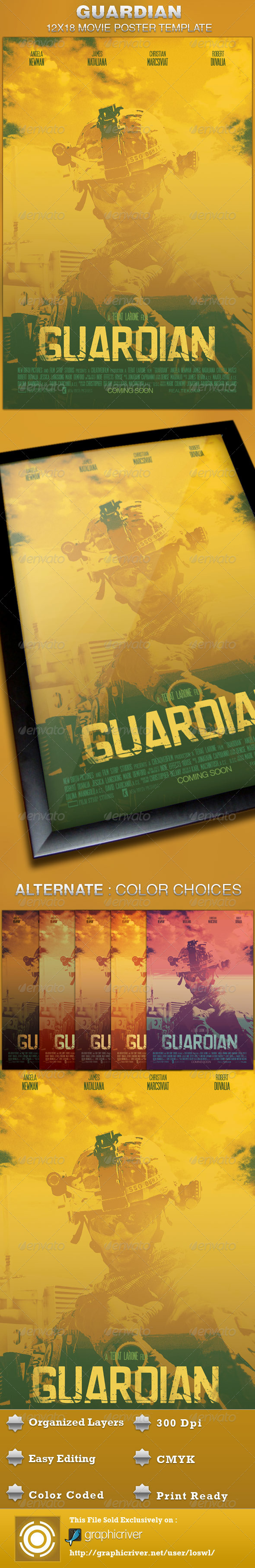 Editable movie poster template