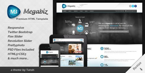 Megabiz Responsive HTML/CSS Template by tansh | ThemeForest