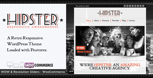 Hipster - Retro Responsive WordPress Theme by BeantownThemes ...
