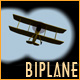 Biplane in Binoculars