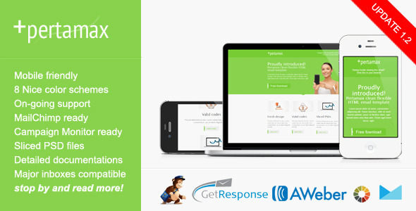 Mobile Friendly HTML Email Template Pertamax By Saputrad ThemeForest - Mobile friendly email templates